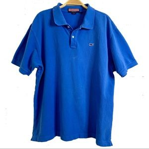 Vineyard Vines Blue Cotton Polo Shirt